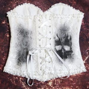 Vintage corset- bustier One of a kind!